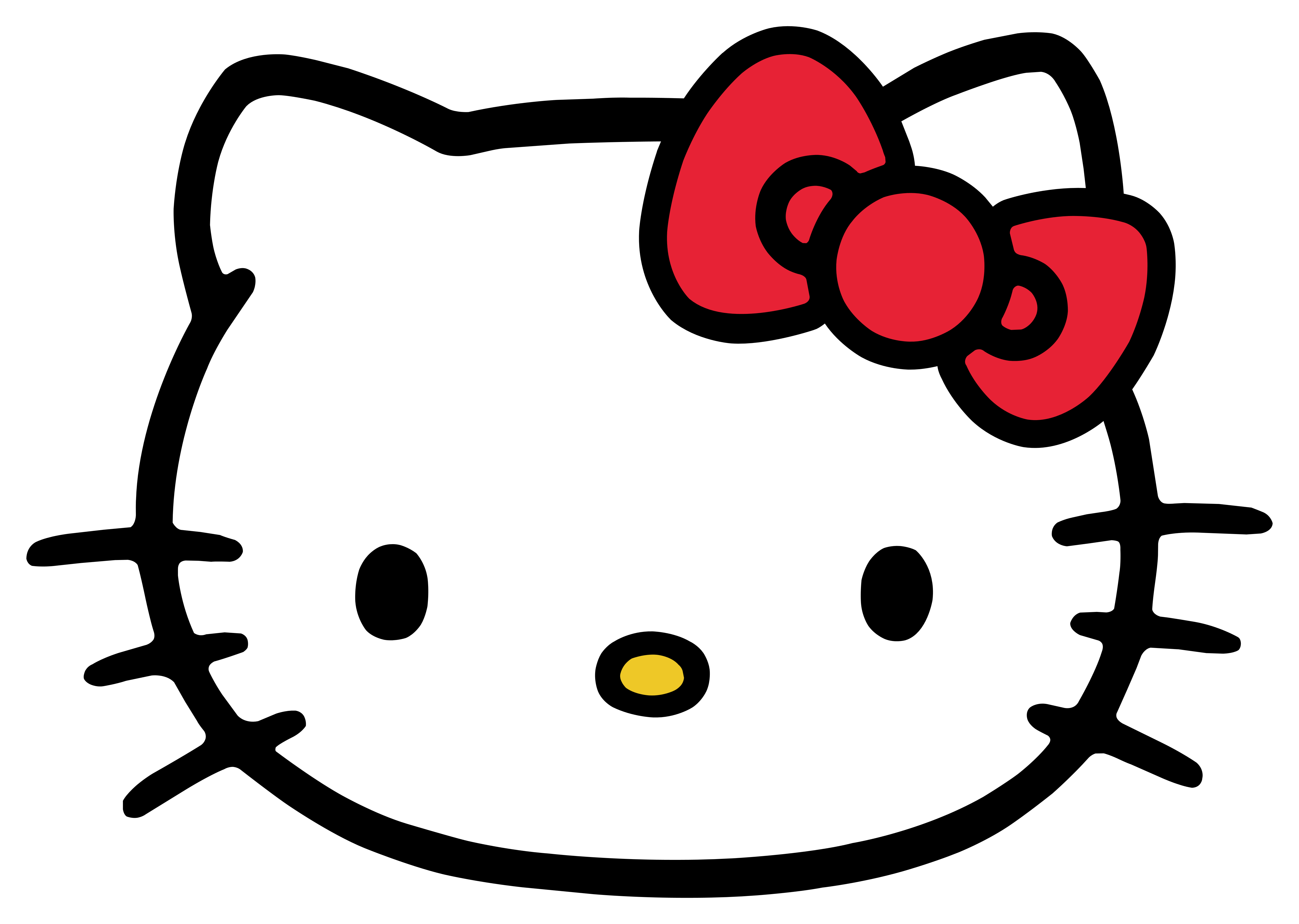 Hello Kitty Logo Muzzle Png 5000 3559 Hello Kitty Kartun Gambar Karakter