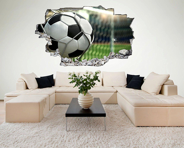 Wunderschön Wandtattoo Fußball Dekoration Von ⚽*werbung | Fußballzimmer: 3d Fußball
