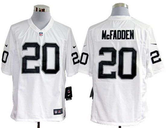 18568c7d8 Nike Raiders  20 Darren McFadden White Mens NFL Game Jersey