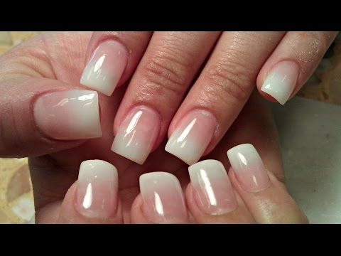 HOW TO BABY BOOMER ACRYLIC NUDE OMBRE NAILS TUTORIAL - YouTube ...