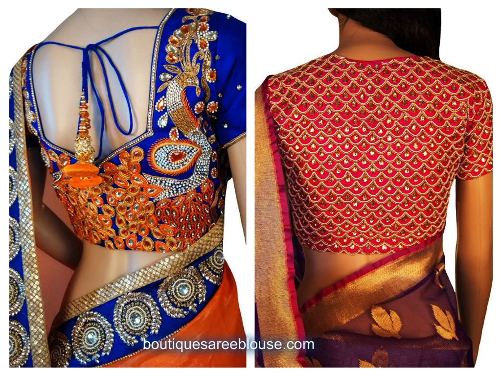 Blouse designs saree blouse back designs blouses neck designs 30 jpg - Blouse Design 2015 Jpg 1024 768