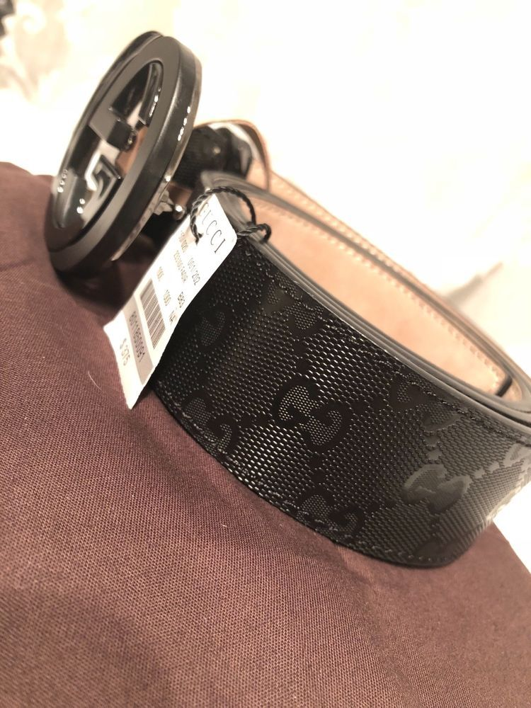 12072331d15 Mens Black Gucci Belt Interlocking GG Buckle W  Box   Bag 100% 32-34  AUTHENTIC  fashion  clothing  shoes  accessories  mensaccessories  belts  (ebay link)