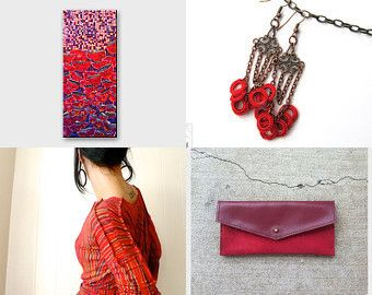 Friday Shopping! by Catherine on Etsy- #handmade #passion #red #oriental #pink #radiant #orchid #love #purple #crochet #textile #fiber #necklace #jewelry #jewellery #bronze #brass #dangle #silk #thread #bohemian #young #fashion #trends #spring #summer #flowers-Pinned with TreasuryPin.com