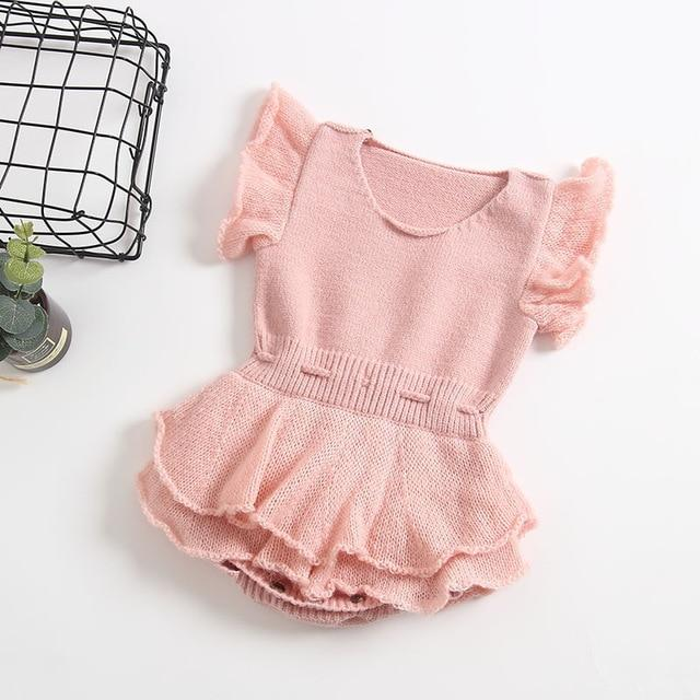 Photo of Baby Rompers Newborn Knitted Baby Clothes Ruffle Baby Girl Romper Cotton Woolen Princess Infant Baby Jumpsuit For Girls Clothes