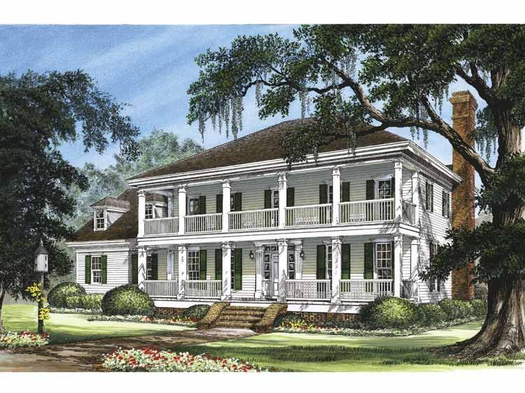 Greek Revival Floor Plans: Greek Revival House Plan With 3298 Square Feet And 4