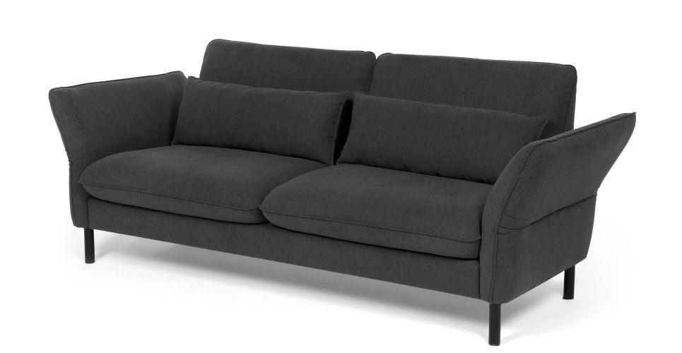 Brandon Canape 3 Places Gris Minerai Canape Confortable Canape 3 Places Meuble Deco