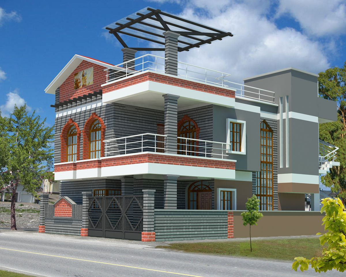 top 3d architecture modeling - Exterior Design Homes