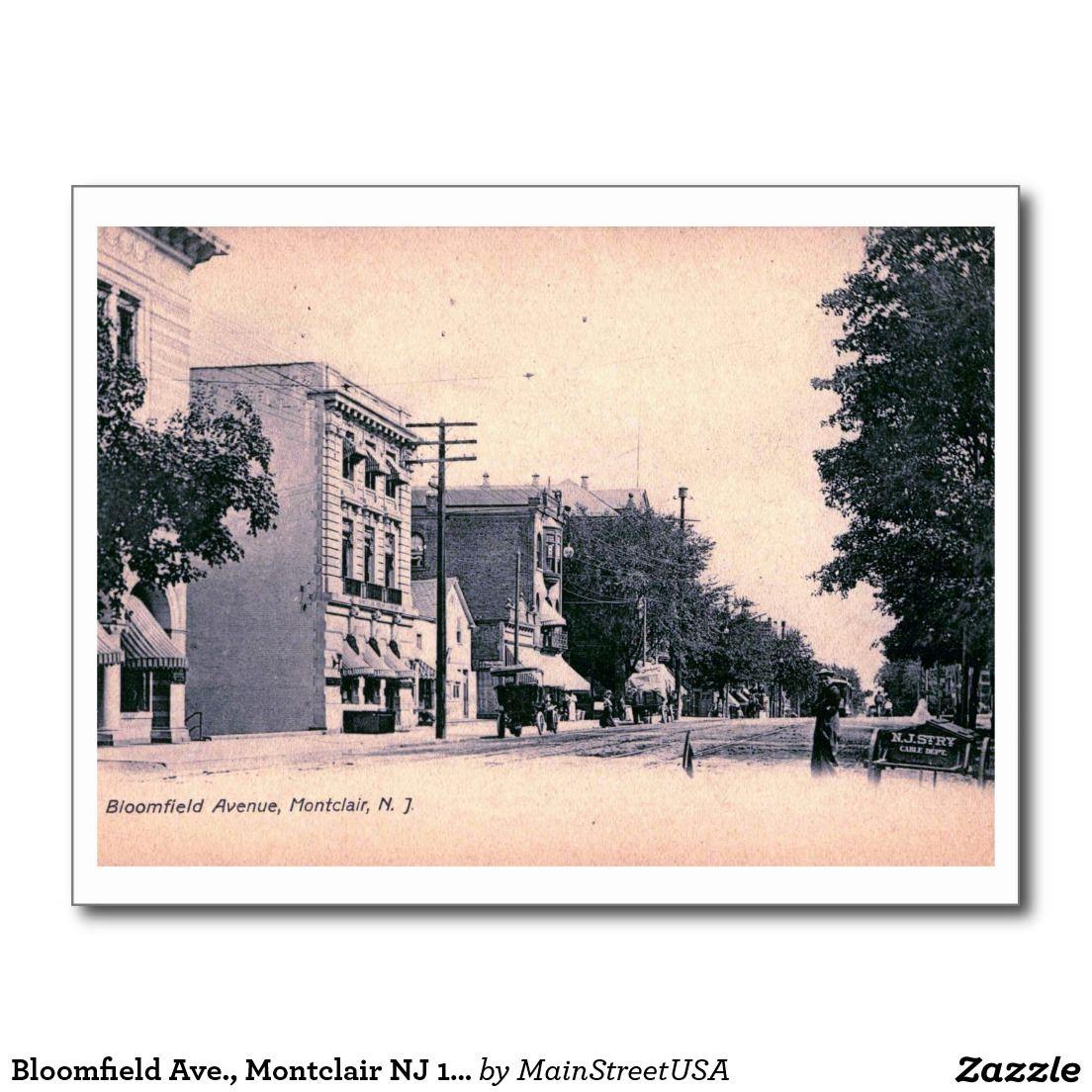 Bloomfield ave montclair nj 1906 vintage postcard