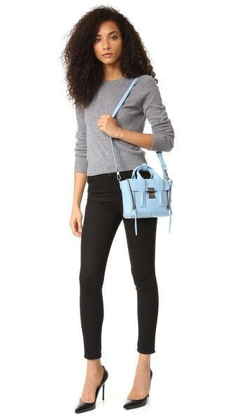 3.1 Phillip Lim Mini Pashli in Dusty Blue