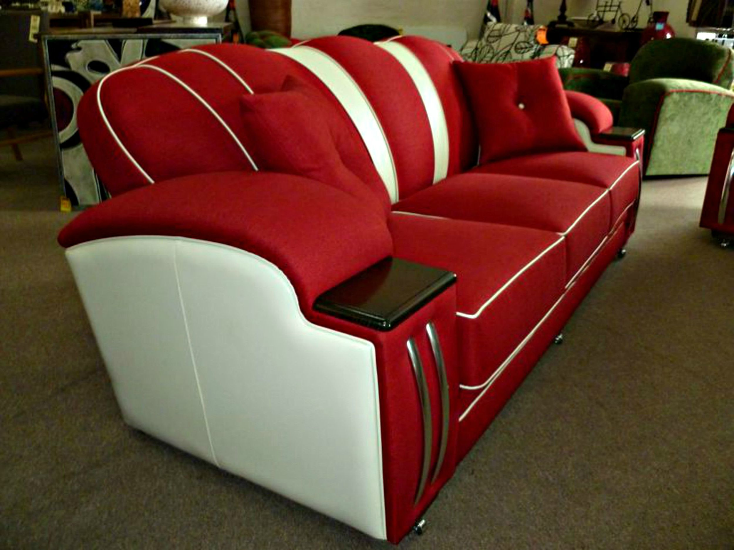 Art deco style loungesofasettee and chair custom