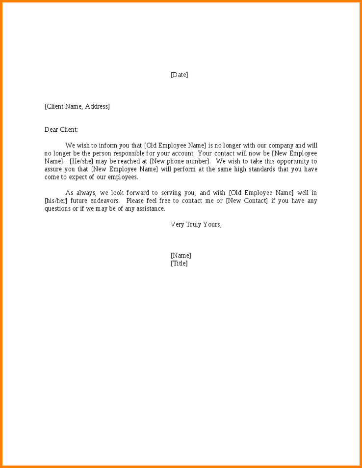 Letter notify change company name cashier resume cover letter notify change company name cashier resume cover announcement sample business pronofoot35fo Gallery