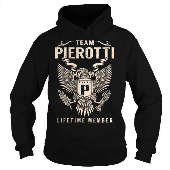 Team PIEROTTI Lifetime Member - Last Name, Surname T-Shirt - #novio gift #mens shirt