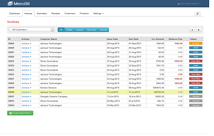 MetroBillNet Invoicing Service Free Quota For Everyone Create Up To - Software to create invoices for service business