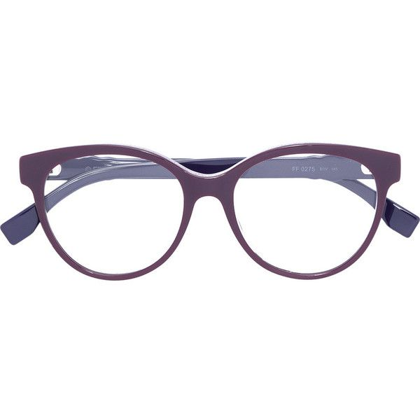 3d0d5f8e231f Fendi Eyewear studded round frame glasses ( 375) ❤ liked on Polyvore  featuring accessories