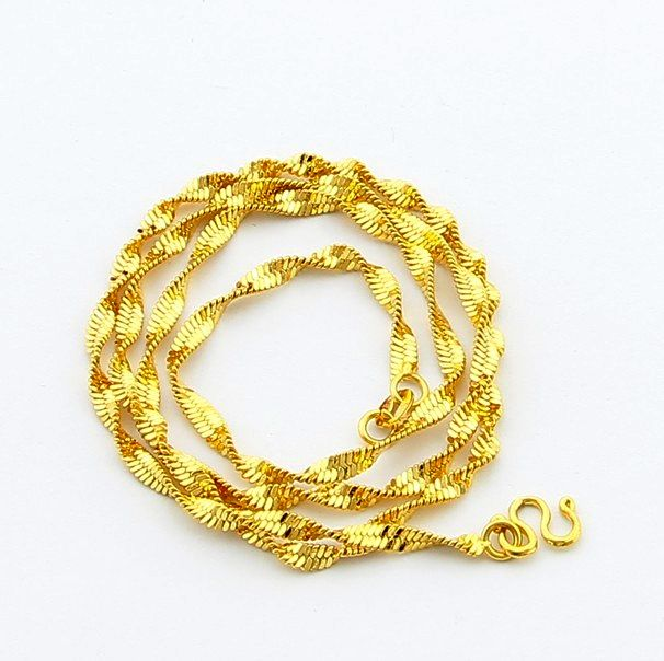 24krgp Chain Pbdn71 Length 48cm Width 4 5mm Twisted Font B Singapore B Font Chain Gold Jpg 606 604 Pixels Gold Chain Design Gold Plated Necklace Golden Jewelry