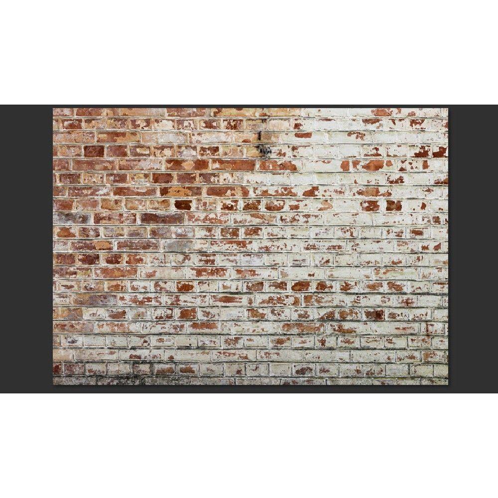 Papier peint aspect vieux mur de briques Carta