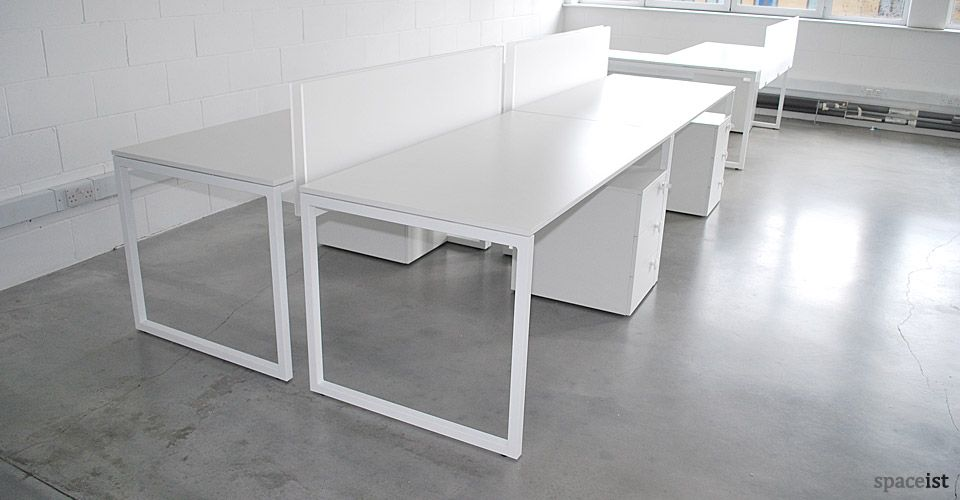 Frame Modular White Office Desk White Desk Office Minimalist Office Desk Office Desk Designs