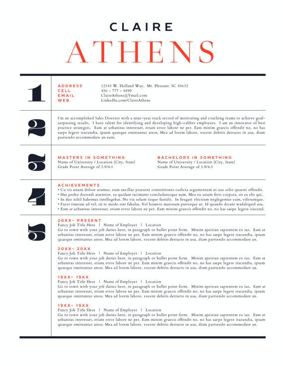 Resume design Resume Inspiration Indesign Pinterest - bullet point resume