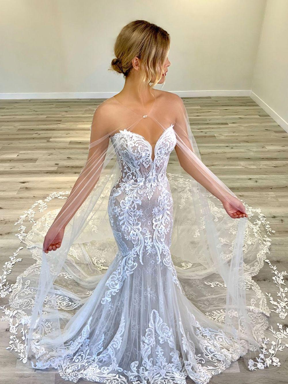 Elysee Marguerite C In 2021 Backless Mermaid Wedding Dresses Mermaid Wedding Dress Long Wedding Dresses [ 1333 x 1000 Pixel ]