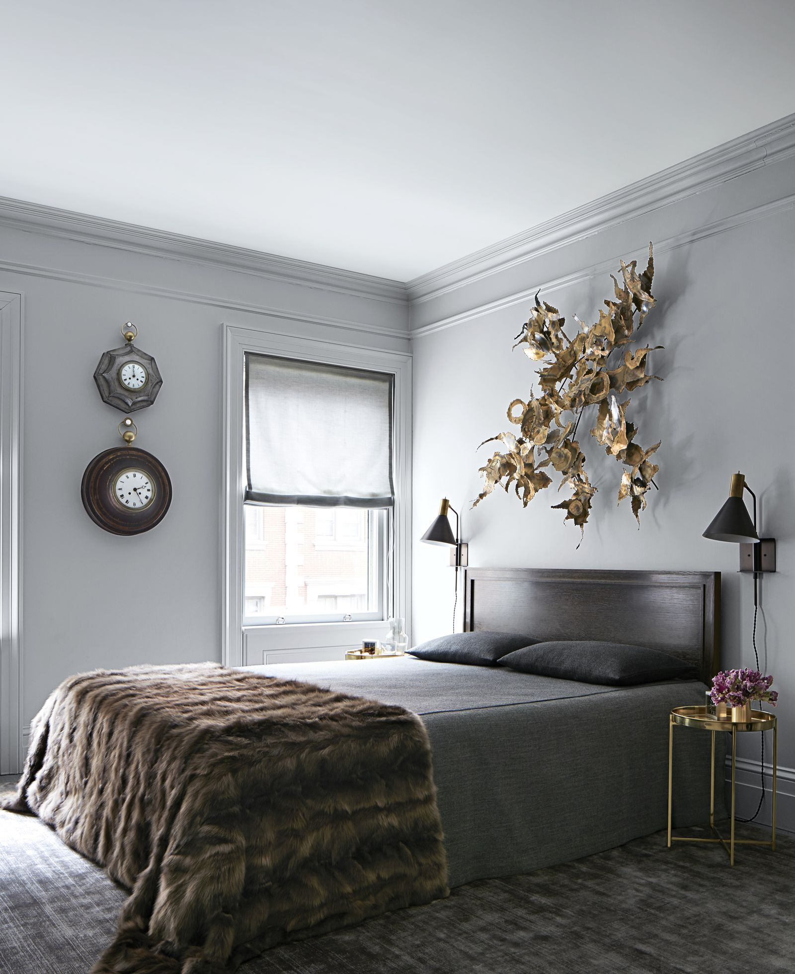 How A Minimalist West Village Townhouse Is Given A Sensuous New Life Contemporary Bedroom Design Modern Bedroom Furniture Modern Bedroom