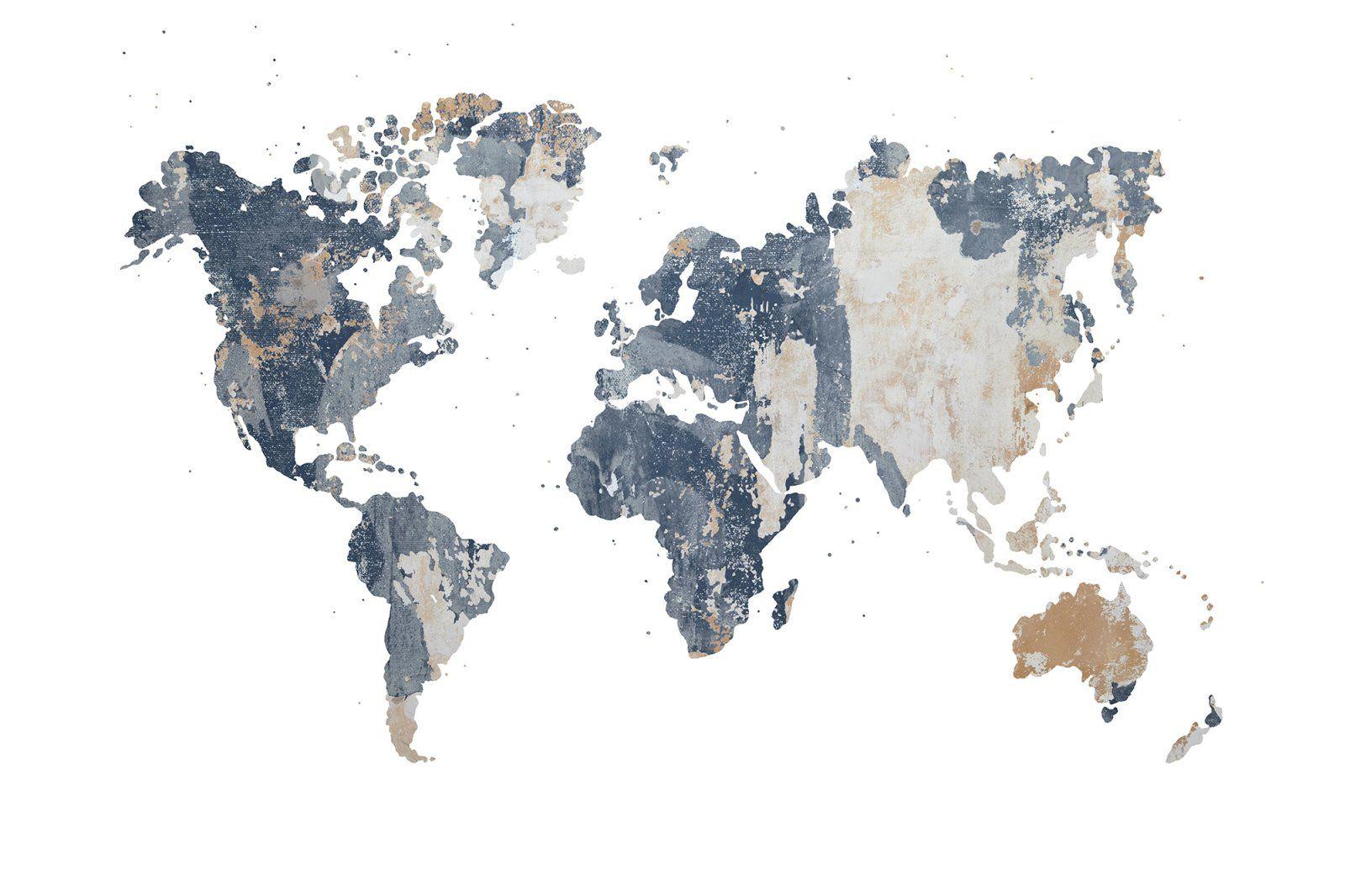 Your Own World Battered Wall World Map Wallpaper Map Murals Mural