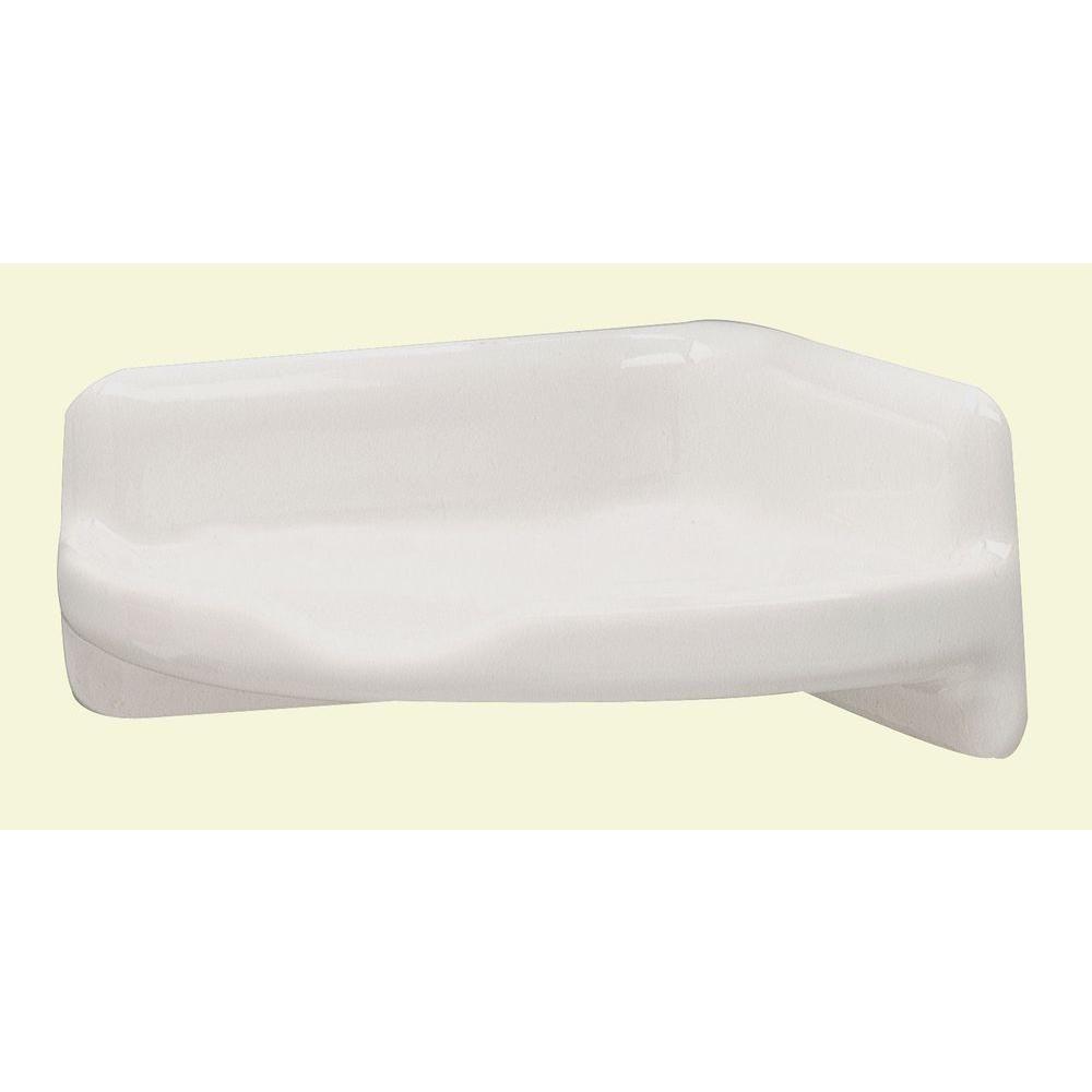 Lenape 3 5 In X 3 5 In Ceramic Corner Shelf In White White