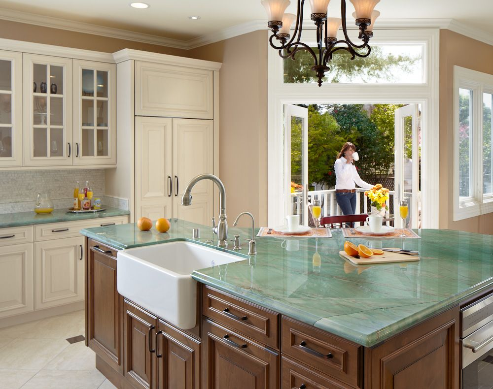 neutral palette except for the countertops and island top on modern kitchen design that will inspire your luxury interior essential elements id=79194