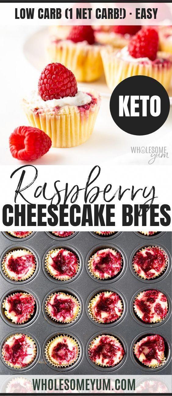 Crustless Low Carb Keto Cheesecake Bites Recipe (Cheesecake Fat Bombs) - Keto cheesecake bites…