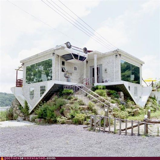 Joy To The World S Ugliest Houses Here Are Five Of Them Upside Down House Unusual Homes Unusual Buildings
