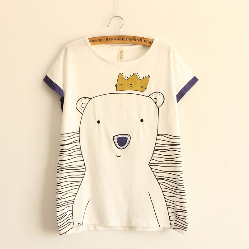 Polar Bear Patch Cloth T Shirt