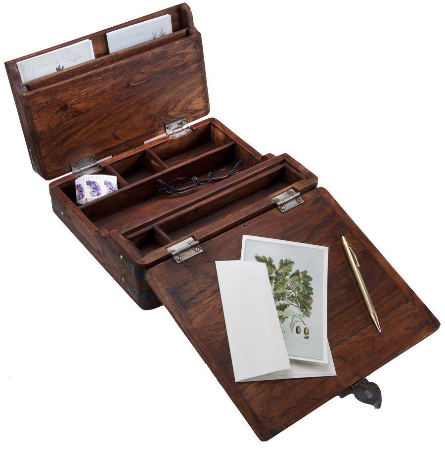 9 Writing Box Plans in 2020 | Campaign desk, Lap desk ...