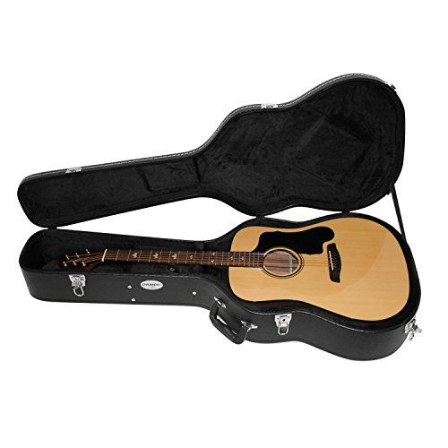 Chromacast Acoustic Guitar Hard Case Cc Ahc With Guitar Strap And Pick Sampler Guitar Strap Acoustic Guitar Acoustic Guitar Case