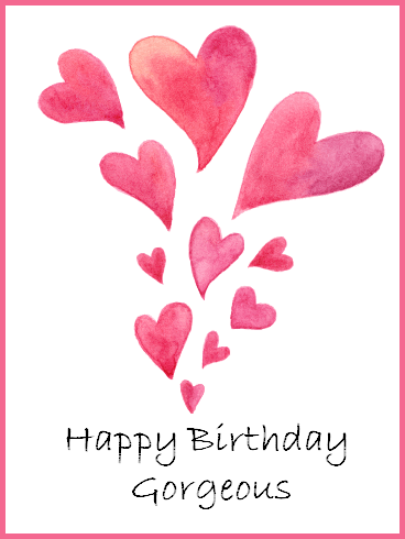 17435d4530a0 Heart Happy Birthday Gorgeous Card. When you began a relationship with your  loved one