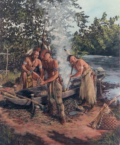 Making a Dugout Canoe by David R  wagner kK | Native / Indigenous