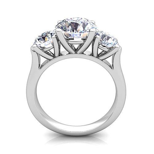 Image Result For 3 Stone Diamond Settings