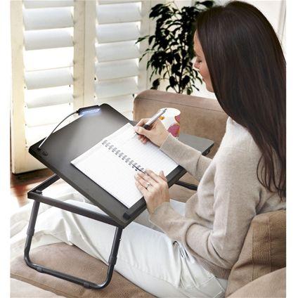 Exceptionnel Folding Lap Desk With LED Light