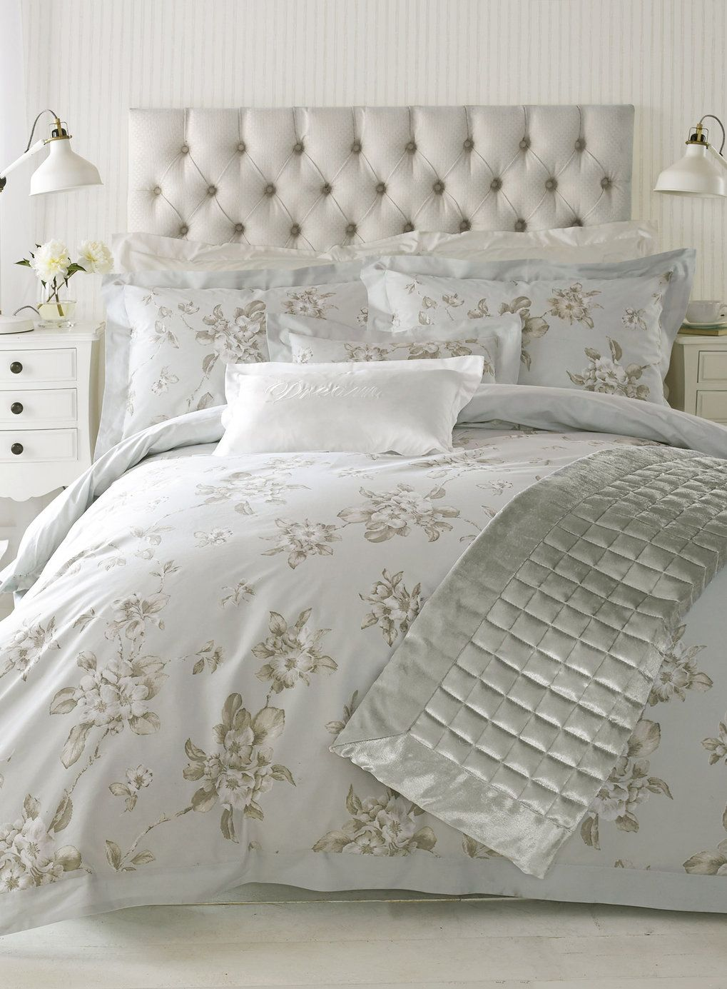 Holly Willoughby Blue Abelle bedding | Bedroom | Pinterest | Bhs ... : bhs quilted bedspreads - Adamdwight.com