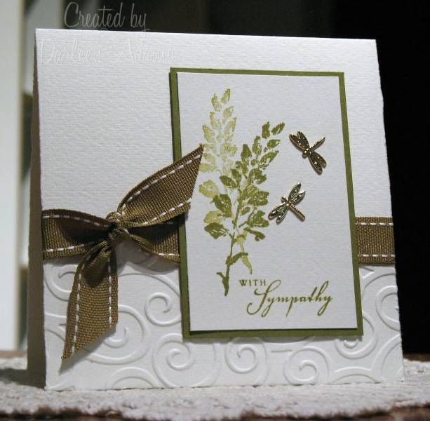 Card Making Ideas Sympathy Part - 17: Simple Sympathy By Darleenstamps - Cards And Paper Crafts At  Splitcoaststampers