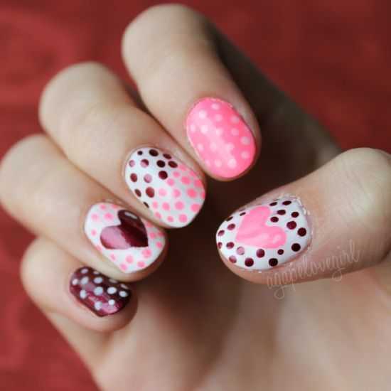 Nail Design Ideas For Valentines Day. best 25+ red nail designs ...
