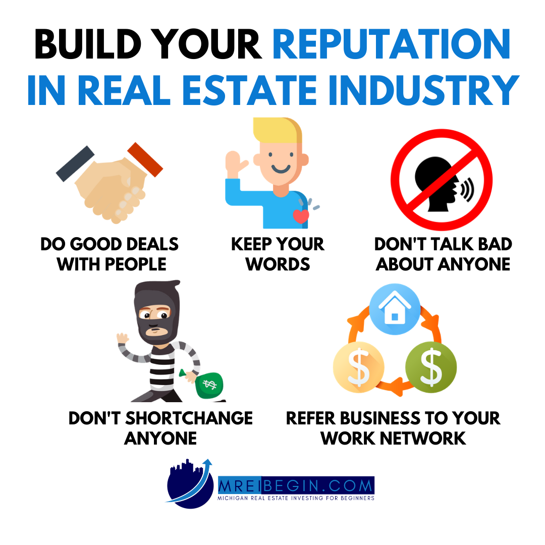 How To Build Your Reputation In Real Estate In 2020 Investing Real Estate Investing Work Networking