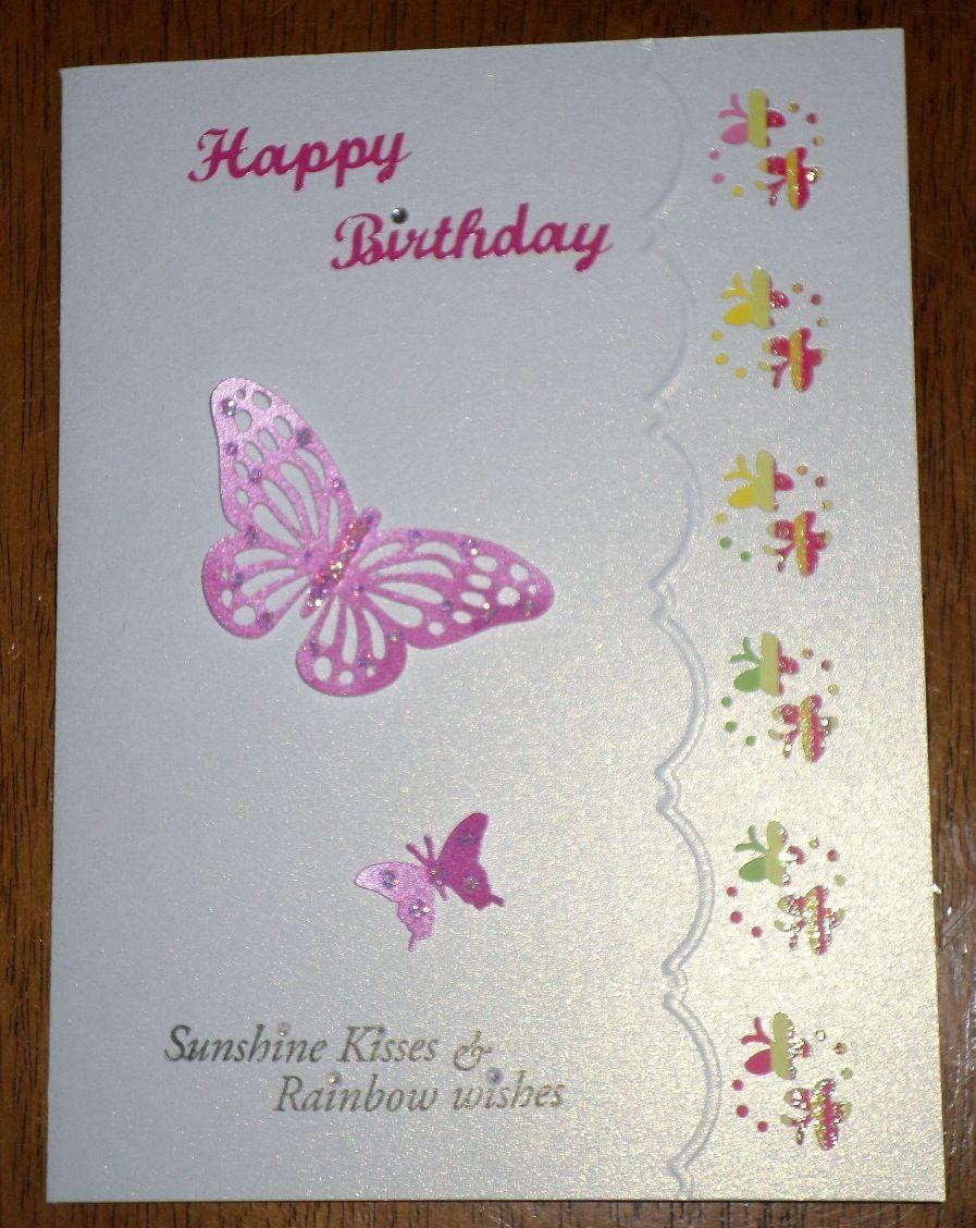 Handmade card here is my butterfly card as a birthday card