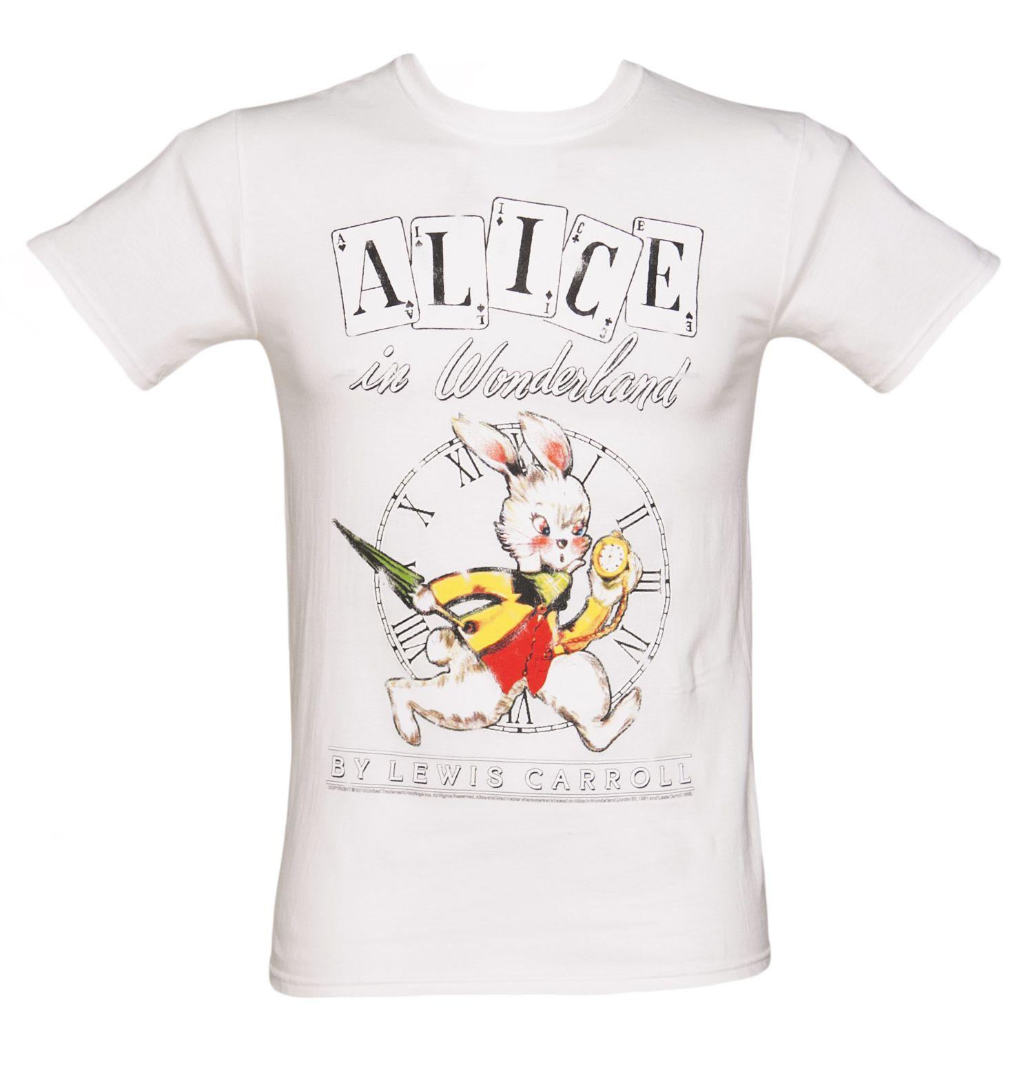 Men's Alice In Wonderland White Rabbit T-Shirt from TruffleShuffle xoxo
