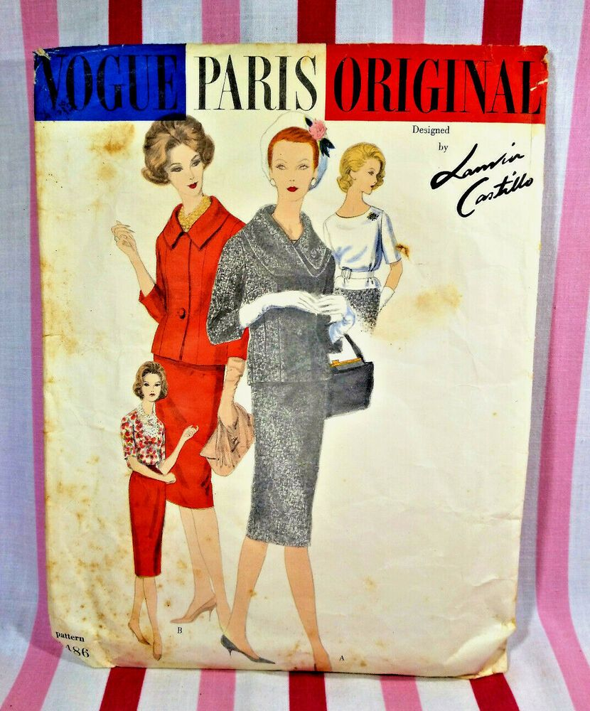 1960s Red Two Piece Vogue Suit