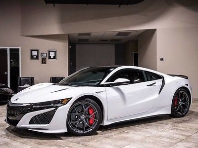 2017 Acura Nsx Base Coupe 2 Door 2017 Acura Nsx Coupe White Carbon Fiber Carbon Ceramic Brakes Msrp 198k Loaded 2017 Acura Nsx Acura Nsx Ceramic Brakes