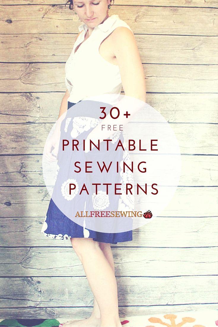 35+ Free Printable Sewing Patterns | Kleidung nähen, Nähen und ...