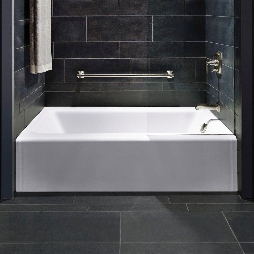 KOHLER Bellwether 5 ft. Right Drain Rectangular Alcove Soaking Tub ...