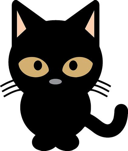 Black Cat Black Cat Art Cute Black Cats Cat Clipart