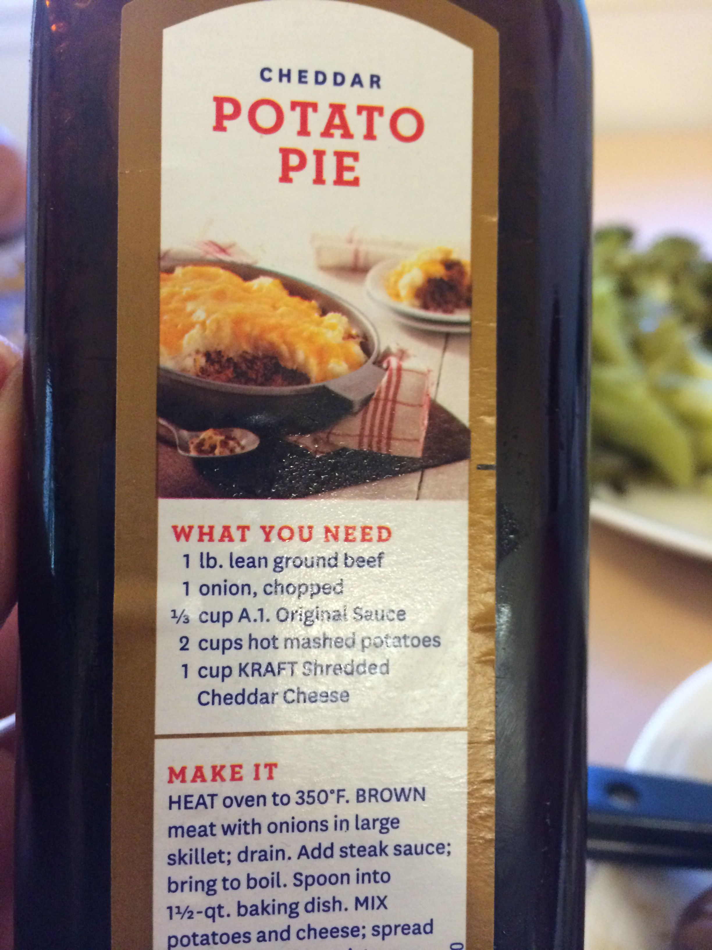 This Recipe Was On The Back Of The A1 Steak Sauce Bottle Looks Good Steak Sauce Recipes Steak Sauce Recipes