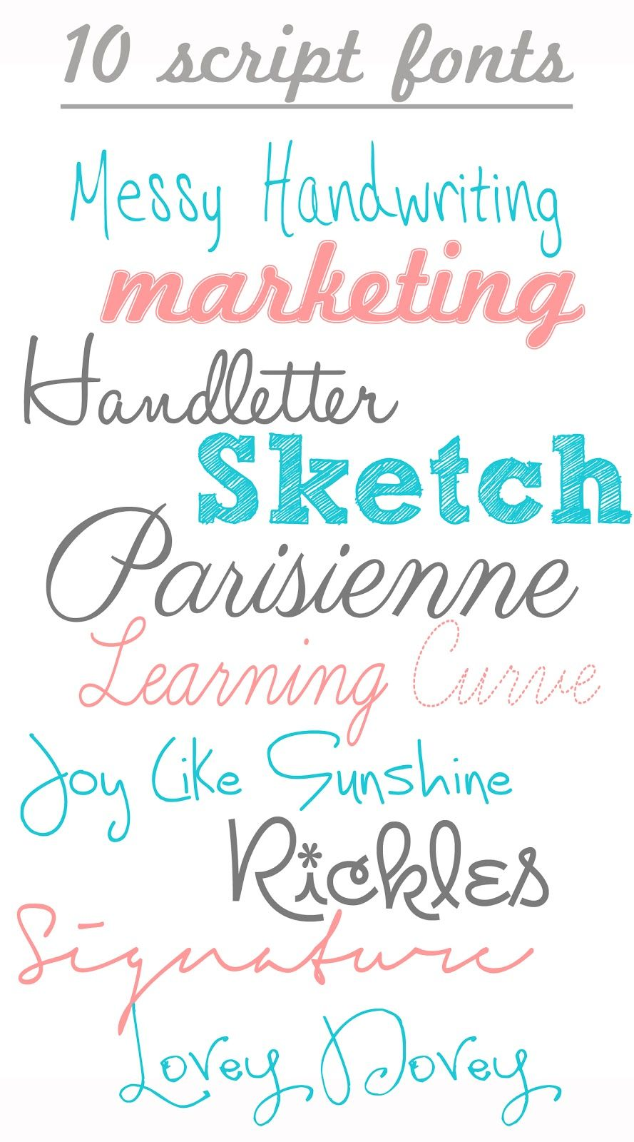 Free handwriting script fonts great for invitations and