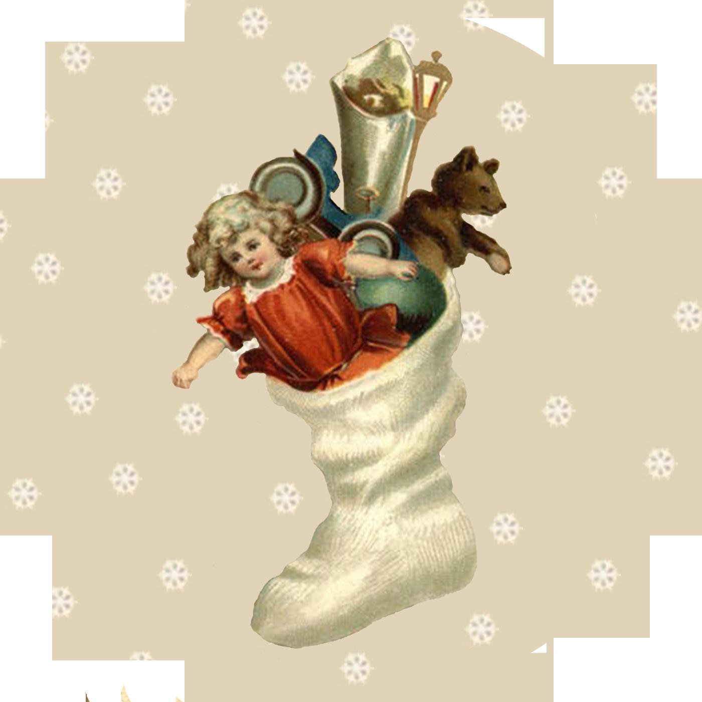 » Blog Archive » Круглые винтажные новогодние картинки для декупажа 7.